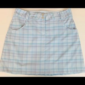 Nike DriFit Golf Tennis Skort Skirt SZ 8 Plaid